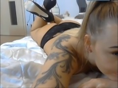 Polish pretty blond slut shows how to suck dick ( wibro )