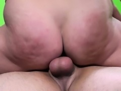 Insatiable girl with a wonderful ass fucks a raging cock and squirts
