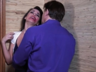 Dana has a sudden urge to suck on a huge dick. After smearing lipstick all over her face, due to some passionate lesbian kissing, this stunning milf is deep throating her man's big dong hard and fast. She is sloppy, but sexy.