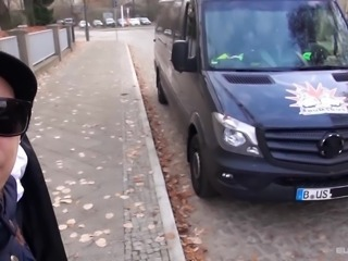 BumsBus - Mature German gets fucked in the backseat of a bus