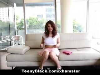 TeenyBlack - Busty And Kinky Ebony Rammed