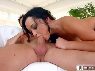 Nice nervous hottie black haired chick Daphne Klyde vaginal