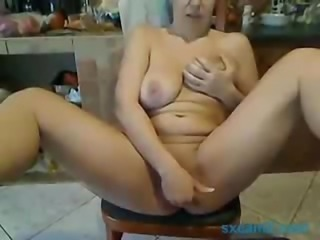mature lady on the chair webcam