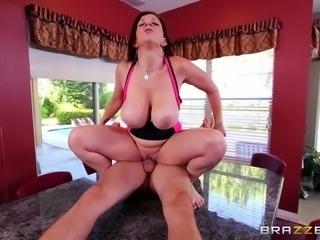 Curvaceous MILF with huge tits only fucks men with big cocks