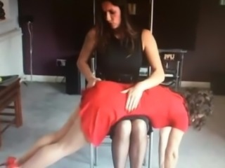 spanking her girlfriends ass