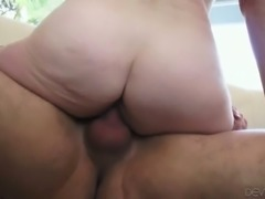 Dirty and old whore gets doggy fucked after hard BJ