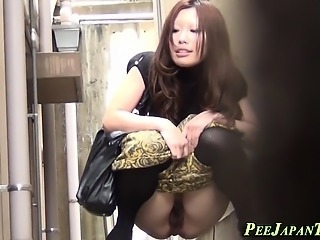Asian hos watched pissing