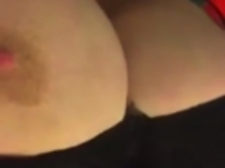 Young BBW gets beautiful big tits out in slow motion