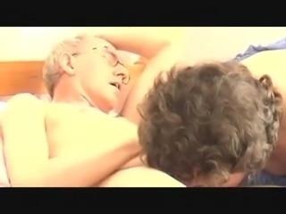 Grandpa's big cock, attractive mature - morning blowjob