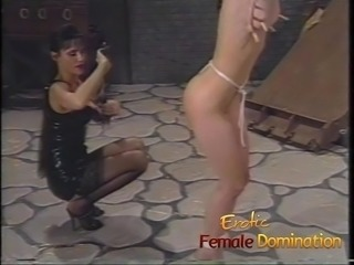 Pain makes this sexy skinny brunette slave girl really horny
