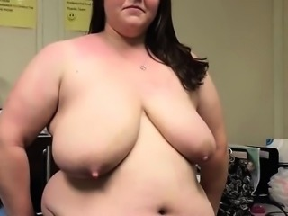 Blinking at the office. Very sagging BBW. Lactating Mother