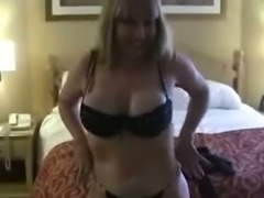My mature blonde wife boats of her amazing big boobs
