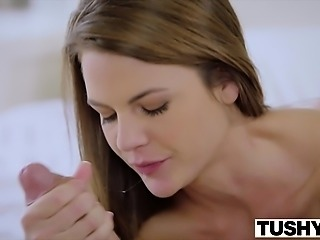 TUSHY Hot assistant punished and ass fucked by boss