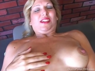 Pretty old spunker wishes you were fucking her juicy pussy