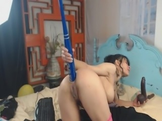 Big Tits Slut Fisting And Toying Her Ass