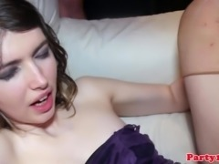 Party amateurs squirting after cumshots