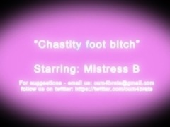chastity foot bitch