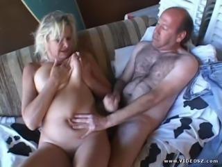 Mature Blonde Blows A Big Dick