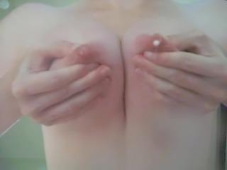 Perky lactating tits