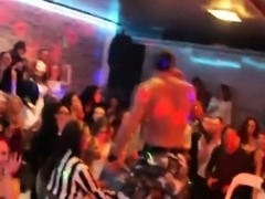 Sexy girls get absolutely insane and naked at hardcore party