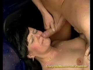 my moms first anal car sex