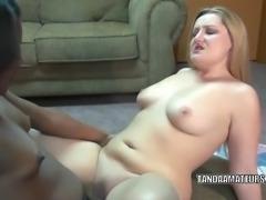 Blonde lesbo Savanna Knight gets fucked by an ebony slut