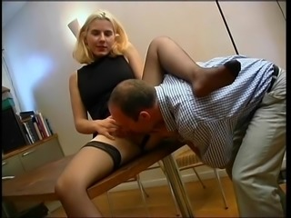 Anal fucking on a table.