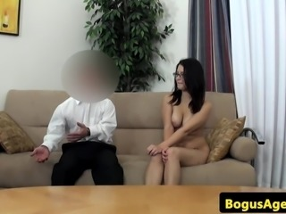 Spex euro babe pussydrilled by midget agent