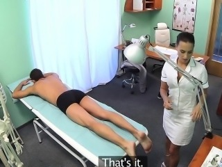 FakeHospital Hot nurse massages patient before fucking him