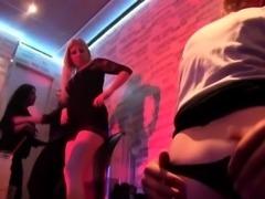 Horny teens fuck stripper