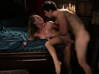 Carter Cruise gets her holes banged hard and her mouth filled with cum