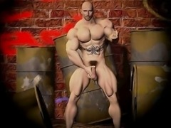 3D Gay Soldiers and Muscled Boys!