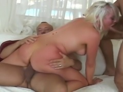 Sexy Blonde Gets Both Holes Fucked Hard