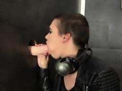 Glam european rubs pussy