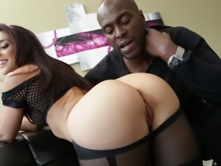 Pretty Lexington Steele And Mischa Brooks Have Interracial Anal Sex