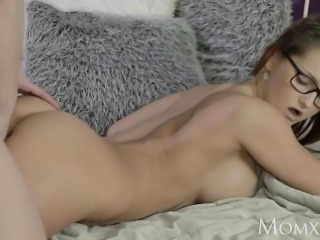 MOM Redhead teacher teaches student with big cock