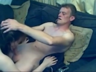My brown-haired wife sucks my cock and lets me eat her hairy pussy