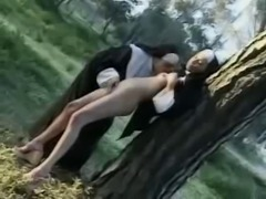 Nun's ass licking