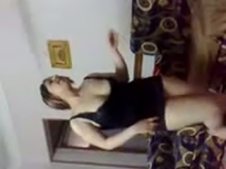 Pale skin Egyptian girlfriend gives me dance shaking her big booty