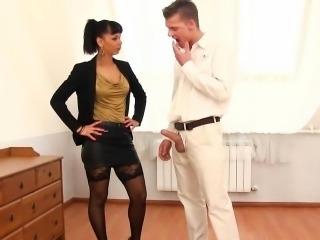 Bizarre ebony pissing