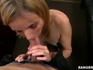 Shy Karmen Blaze tries to pass the porn casting