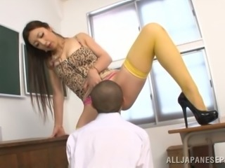 Tall Mature Cutie Erika Gets Pounded In A Classroom