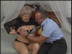 Thick cock rams and slams an amateur granny's wet beaver