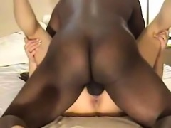 Her pussy is dominated by large black cock