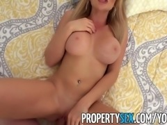 PropertySex - Real estate agent with big tits fucks up vacation rental