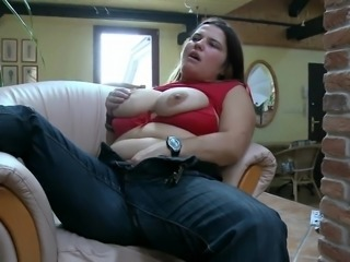 hot fatty playing with herself