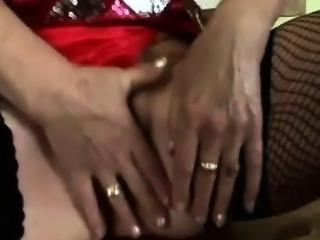 Nasty mature whore enjoys hard fucking in stockings