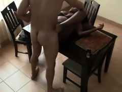 Beautiful African whore spreading her legs for hard cock