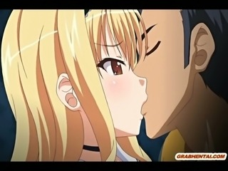 Lustful anime nympho lets her lover titty fuck her