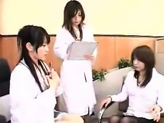 Three delightful Oriental ladies indulge in exciting lesbia